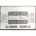 BGA трафарет 0,45mm DDR3-2