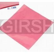 Термопрокладка силиконовая (100*100*0.5mm, 6W/m-K) розовая (-40...+200)
