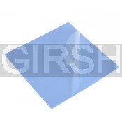 Термопрокладка силиконовая (100*100*1.0mm, 6W/m-K) голубая (-40...+200)